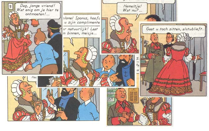 Error in Tintin (The Calculus affair)